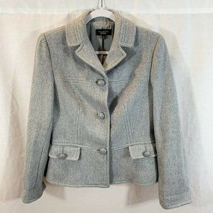 Talbots Wool Blazer Jacket Coat Gray Womens 8